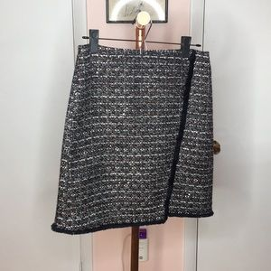 Tweed and sequined Loft skirt